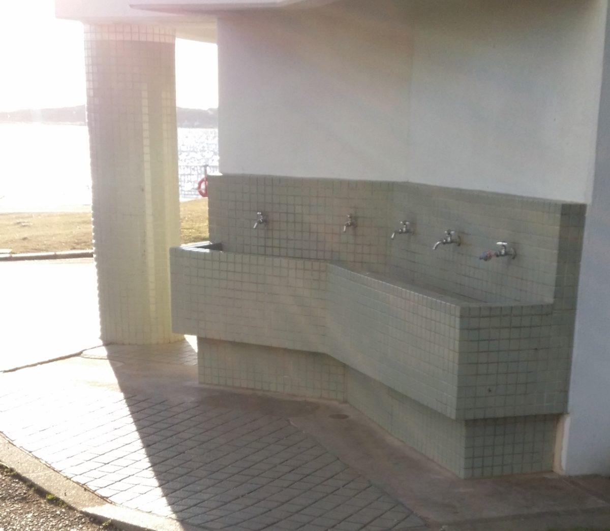 若洲の手洗い場